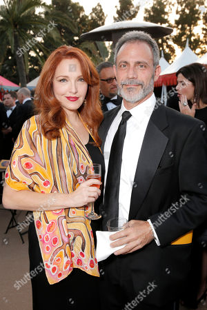 Amy Yasbeck, left, and Michael Plonsker attend the 10th annual Alfred Mann Foundation Gala, in Beverly Hills, Calif