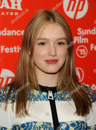 """Maddison Brown, a cast member in """"Strangerland,"""" poses at the premiere of the film at the Egyptian Theatre during the 2015 Sundance Film Festival, in Park City, Utah"""