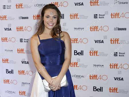 "Stock Photo of Claire Glassford attends the premiere for ""The Family Fang"" on day 5 of the Toronto International Film Festival at Winter Garden Theatre, in Toronto"