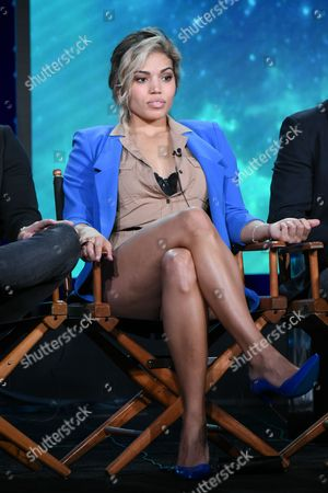 """Actress Ciara Renee participates in """"DC's Legends of Tomorrow"""" panel at the The CW 2016 Winter TCA, in Pasadena, Calif"""