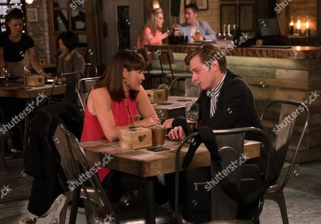 Ep 9274 Friday 13th October 2017 - 2nd Ep In the Bistro, Cindy, as played by Ester Hall, comforts Daniel Osbourne, as played by Rob Mallard, over his thwarted scoop but is alarmed when her husband Ross, as played by Anthony Brophy, walks in on the intimate scene. Ross grabs Daniel as Phelan watches on, having tipped off Ross. Can Daniel avert a fight?