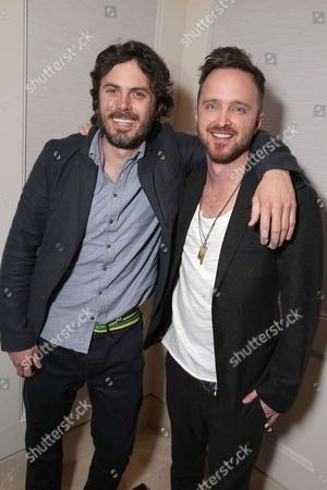Exclusive - Casey Affleck and Aaron Paul seen at a Private Screening of Open Road's 'Triple 9' hosted by John Hellcoat, Casey Affleck, Aaron Paul and Atticus Ross at the London Hotel West Hollywood, in West Hollywood, CA