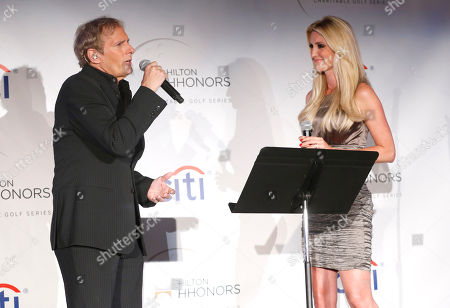 Michael Bolton and Kelly Levesque perform at the Hilton HHonors Charitable Golf Series Finale Event, on at the Riviera Country Club in Pacific Palisades, Calif