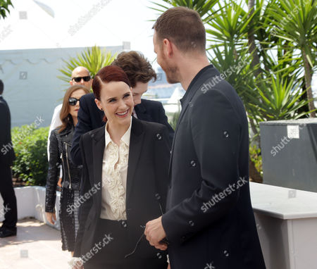 Rachel Brosnahan and Joachim Trier during a photo call for the film Louder than Bombs, at the 68th international film festival, Cannes, southern France