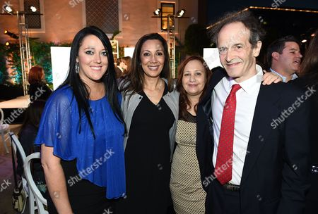 Katrina Gilbert, from left, Lucia Gervino, Television Academy Honors Chair, Shari Cookson and Nick Doob attend the 8th annual Television Academy Honors at the Montage hotel, in Beverly Hills, Calif