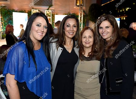 Katrina Gilbert, from left, Lucia Gervino, Television Academy Honors Chair, Shari Cookson and Maria Shriver attend the 8th annual Television Academy Honors at the Montage hotel, in Beverly Hills, Calif