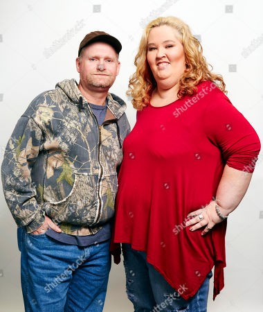 June Shannon, right, aka Mama June, and Mike Thompson, aka Sugar Bear, pose for a portrait in New York. Shannon and Thompson are on the new season of Marriage Bootcamp Reality Stars on We