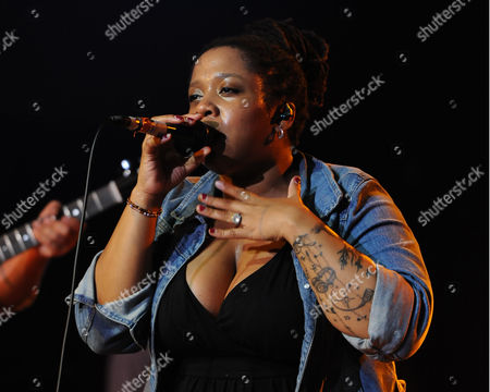 Crystal Monee Hall performs at Revolution Live on in Fort Lauderdale, Florida