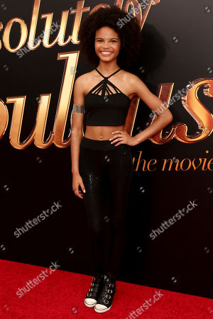 """Indeyarna Donaldson-Holness attends the premiere of """"Absolutely Fabulous: The Movie"""" at the SVA Theatre, in New York"""