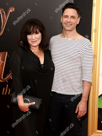 """Stock Photo of Harriet Thorpe, left, and Sean Palmer, right, attend the premiere of """"Absolutely Fabulous: The Movie"""" at the SVA Theatre, in New York"""