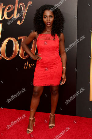 "Deborah Ayorinde attends the premiere of ""Absolutely Fabulous: The Movie"" at the SVA Theatre, in New York"