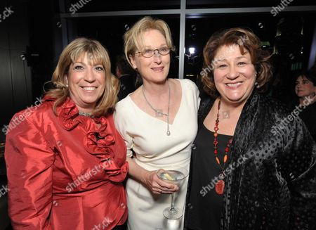 "Stock Photo of From left, Sheila G Mains, Meryl Streep and Margo Martindale attend the afterparty for The Weinstein Company's Los Angeles premiere of ""August: Osage County"" in partnership with Bombardier at WP24 on"