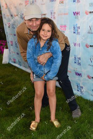 Jason Binn and daughter CeCe Binn arrive at VH1's Save The Music Foundation's Hamptons Live Benefit, in Sagaponack, NY