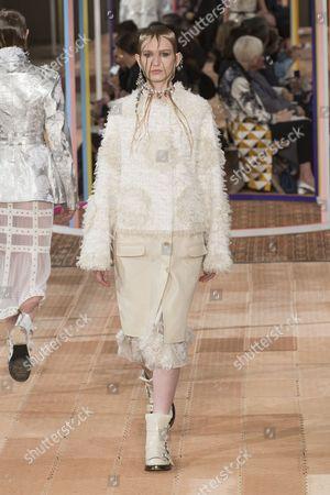 Stock Photo of Mia Brammer on the catwalk
