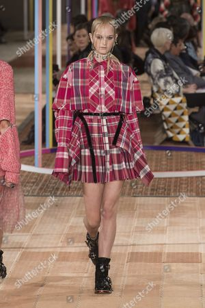Jean Campbell on the catwalk