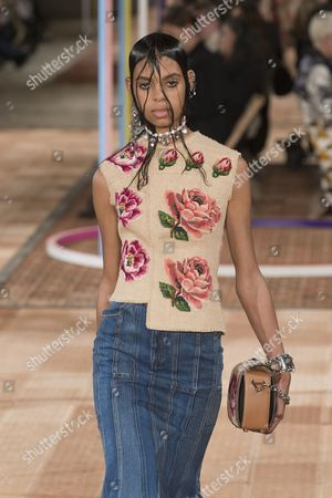 Editorial photo of Alexander McQueen show, Runway, Spring Summer 2018, Paris Fashion Week, France - 02 Oct 2017