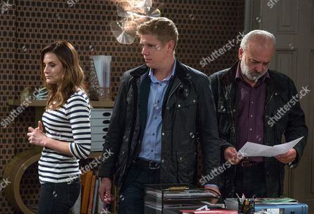 Ep 7967 Tuesday 17th October 2017  Robert Sugden's, as played by Ryan Hawley, on edge as Chrissie White, as played by Louise Marwood, plans on working with Rebecca White, as played by Emily Head, on the RTB investment deal. Later he voices his concerns to Lawrence White, as played by John Bowe, as he wants Rebecca to manage the contract by herself.