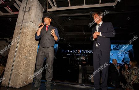 Rockit Ranch Productions CEO Billy Dec with actor and ensemble member Michael Shannon attend the A Red Orchid Theatre's 21 Annual Gala at the Underground, on in Chicago