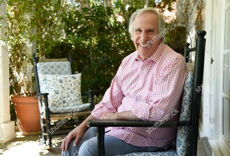 """Henry Winkler poses for a portrait at his home in Los Angeles. Winkler stars with George Foreman, Terry Bradshaw and William Shatner in """"Better Late Than Never,"""" a four-episode reality series documenting their 35-day trip through Japan, Korea, Hong Kong and Thailand"""