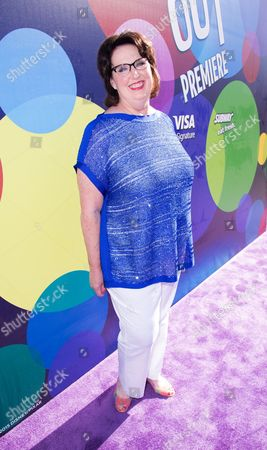 """Phyllis Smith is seen at the Los Angeles premiere of """"Inside Out"""" at the El Capitan Theatre on"""