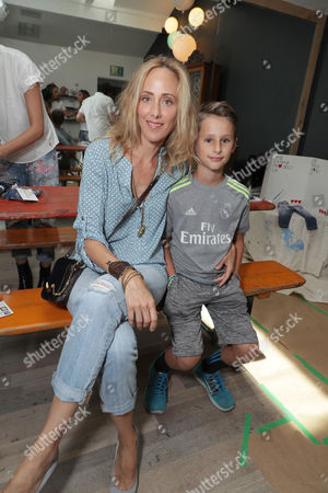 Kim Raver and Leo Kipling Boyer seen at Levi's Brand Back to School event hosted by Au Fudges's Jessica Biel and Estee Stanley at Au Fudge, in Los Angeles, CA