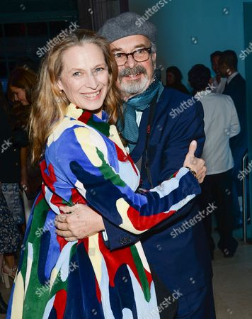 """Photographer Arthur Elgort and wife Grethe Barrett Holby attend """"The Divergent Series: Insurgent"""" premiere party at Guastavino's, in New York"""