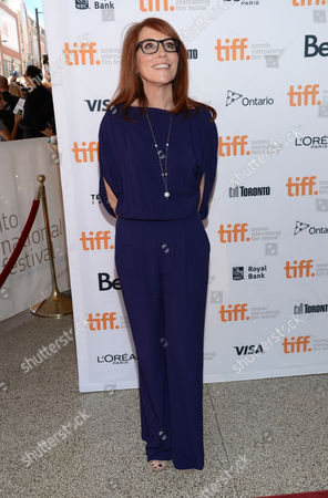 """Margaret Nagle arrives at the premiere of """"The Good Lie"""" on day 4 of the Toronto International Film Festival at the Elgin Theatre, in Toronto"""