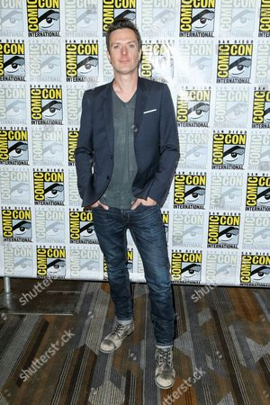 """Composer Fil Eisler (iZLER) attends the """"Behind the Music - Crime, Death and Resurrection"""" press line on day 1 of Comic-Con International, in San Diego"""