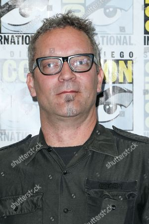 "Stock Image of Composer Charlie Clouser attends the ""Behind the Music - Crime, Death and Resurrection"" press line on day 1 of Comic-Con International, in San Diego"