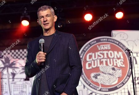 Stock Photo of Kevin Bailey, Vans president, speaks at the 2016 Vans Custom Culture design competition event in Los Angeles on