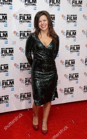 Stock Picture of Director Corinna McFarlane poses for photographers upon arrival at the premiere of the film Silent Storm, in London