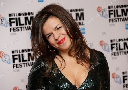 Stock Image of Director Corinna McFarlane poses for photographers upon arrival at the premiere of the film Silent Storm, in London