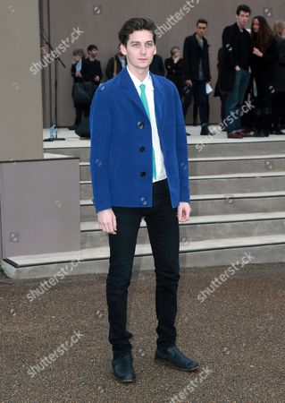 Singer and model George Craig arrives at the Burberry Prorsum show during The London Collections: Men Autumn/Winter 2014,, in London