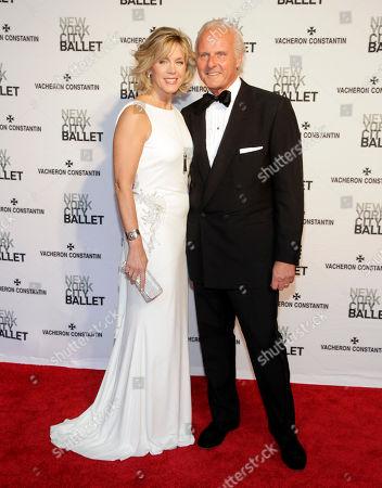 Television journalist Deborah Norville, left, and her husband, financier Karl Wellner, right, attend the New York City Ballet 2014 Spring Gala, in New York