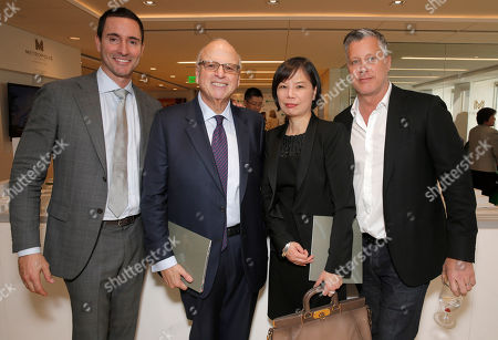Stock Picture of Douglas Elliman Real Estate's Horacio LeDon, Howard Lorber, Grace Chang and Dennis Mangone attend Douglas Elliman Real Estate's Celebration of Groundbreaking for Metropolis Los Angeles, on Friday, Feb 14th, 2014 in Los Angeles