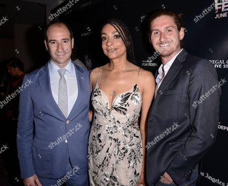 "From left to right, producer Rafael Marmor, director Delila Vallot, and producer Christopher Legett attend the Los Angeles Film Festival premiere of ""Can You Dig This?"" in Los Angeles on"