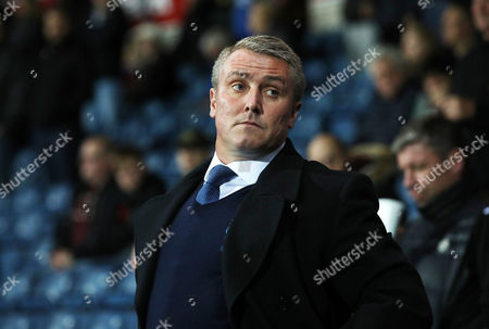 Lee Clark, Manager of Bury during the Checkatrade Trophy match between Blackburn Rovers and Bury at Ewood Park on October 3, 2017 in Blackburn, England. (Photo by Ross Cooke)