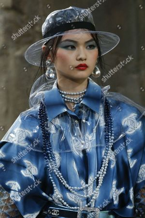 Stock Picture of He Cong on the catwalk