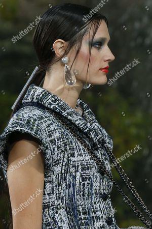 Stock Image of Leila Goldkuhl on the catwalk, detail