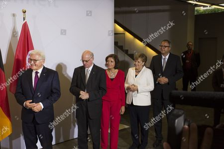 Frank Walter Steinmeier, Norbert Lammert, Malu Dreyer, Angelika Merkel,  Prof. Dr. Andreas Voßkuhl