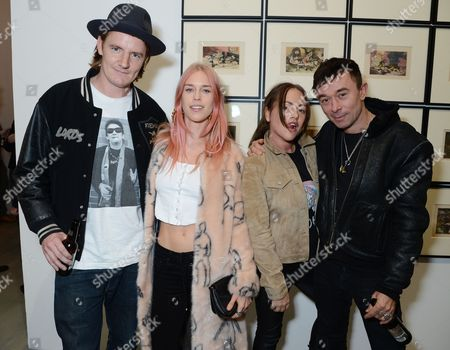 Mary Charteris and Robbie Furze with guests