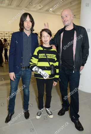 Bobby Gillespie, Lux Gillespie and Jake Chapman
