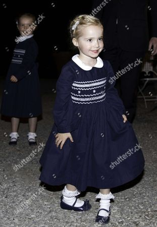 Rivalta Princess Luisa, Markiezin (Marchioness or lady) of Castell? Arquato arrive for the galadinner at Castello di Rivalta in Parma, Italy.