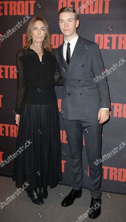 Director Kathryn Bigelow pose with actor Will Poulter