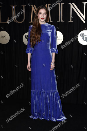 Singer 'Birdy' poses for photographers on arrival at the 'BFI Luminous' fundraising gala held by The British Film Institute, in London