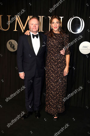 Jason Watkins, Clara Francis. Actor Jason Watkins and wife Clara Francis pose for photographers on arrival at the 'BFI Luminous' fundraising gala held by The British Film Institute, in London