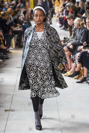 Kesewa Aboah on the catwalk