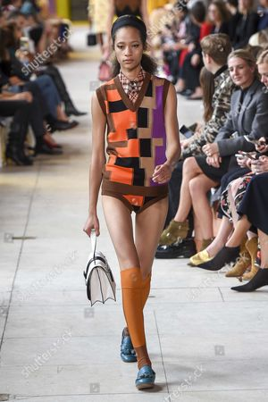 Stock Photo of Selena Forrest on the catwalk
