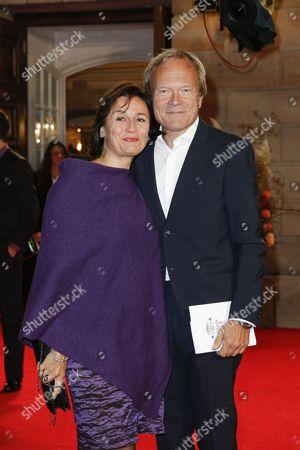 Sandra Maischberger and Mann Jan Kerhart
