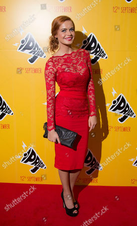 British singer Sophie Evans arrives for the premiere of the film 'Pride', at Camden's Odeon cinema, north London, England